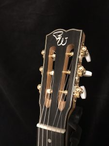 Slotted Headstock, Wälivaara OM, cross-over nylon string guitar